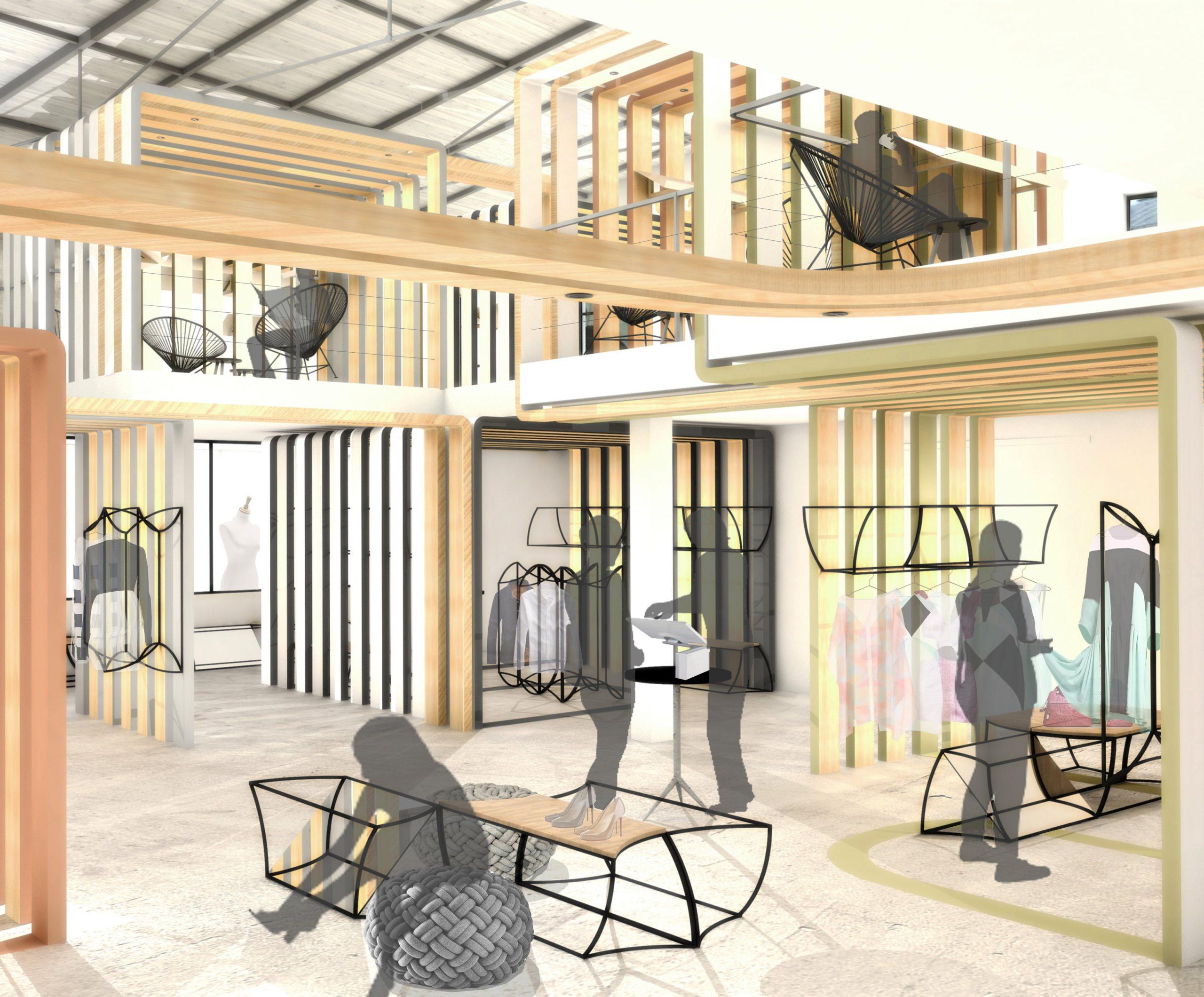 Paris 04 ✦ Showroom dédié à un collectif de stylistes réalisant du prêt-à-porter haut de gamme