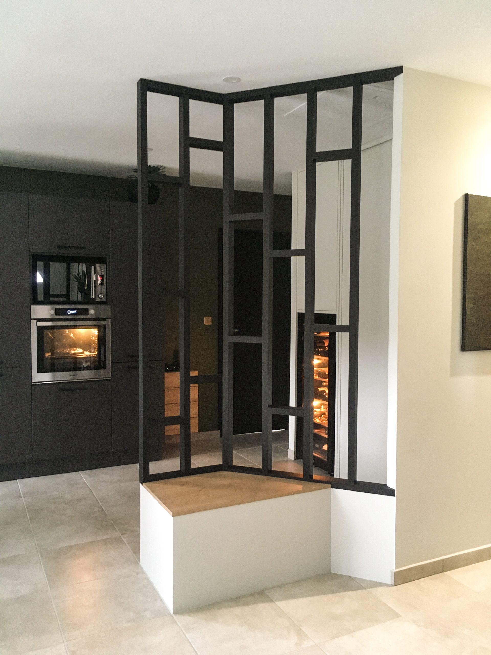Sainte-Eulalie ✦ 2021 ✦ Création d'un écran de séparation sur mesure, et d'un espace cave-à-vin